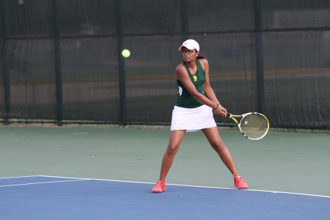 Varsity B girls tennis hits competition hard
