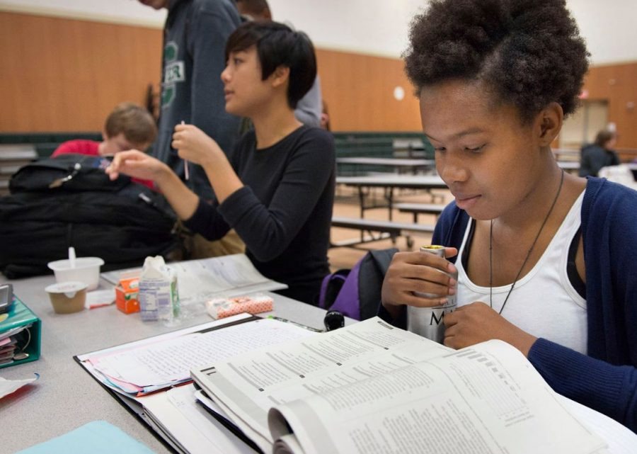 Students prepare for a college test that coming up. Many prep books are provided for students to be able to do their best. The tests are an important component in college applications so many students put in their efforts to do well.