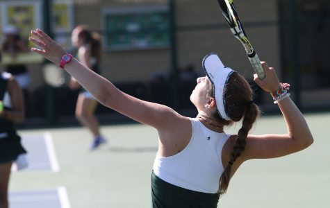 Varsity Green serves it up during the season