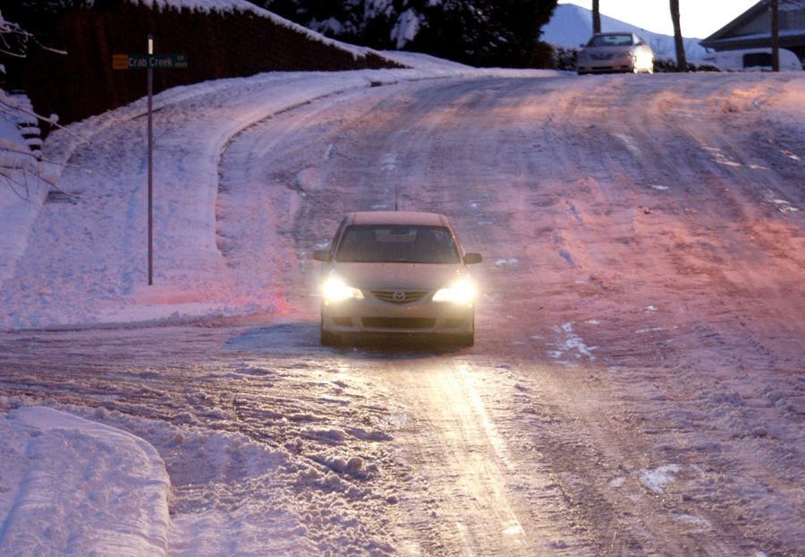 Icy roads leave students scared