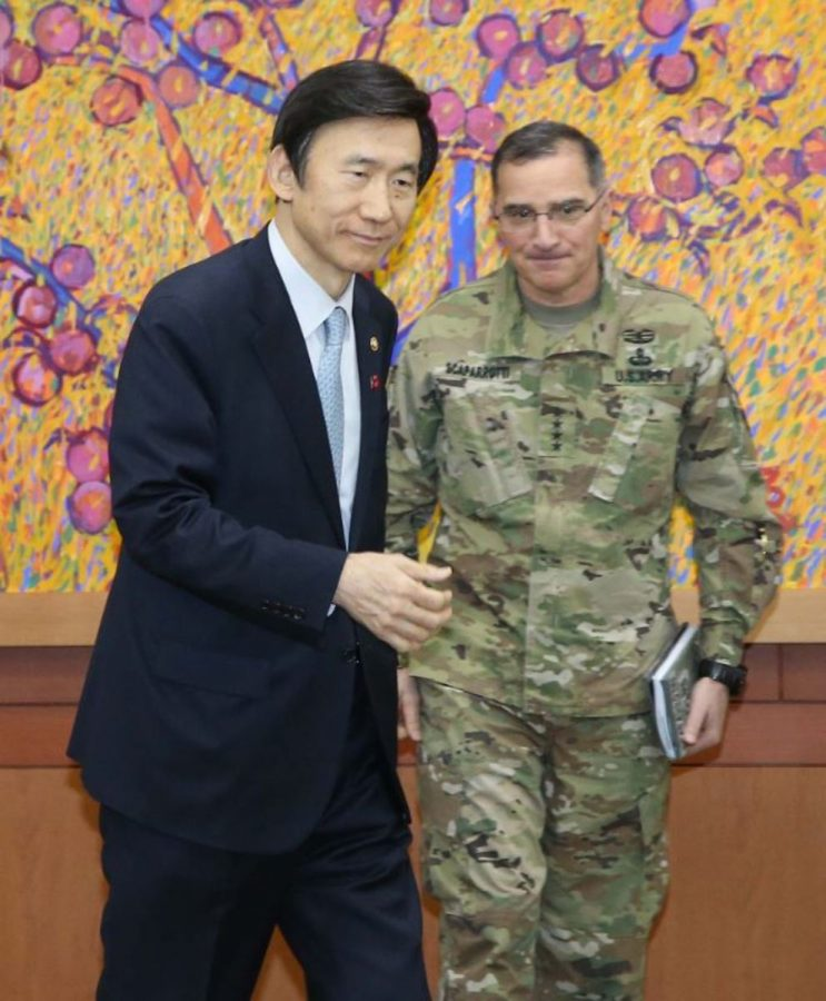 The South Korean Foreign Minister and US Ambassador discuss plans to respond to North Korea's Jan. 6, 2016 test. South Korea and the United States have also been strong allies since the Korean War, and both are enemies of North Korea. South Korea is the closest nation to North Korea, and with high tensions between the two nations, South Korea is a primary target for nuclear attacks. Photo courtesy of MCT.