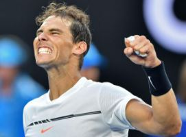 BAM! Rafael Nadal is known to wear his emotions on his sleeve. After his victory against Milos Raonic, Nadal dropped to his knees and held his fists up in the air. This is Nadal's best major run since the 2014 French Open.