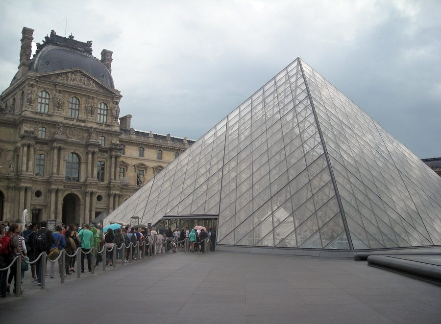The Louvre Museum in Paris, France, is described as one of the largest museums and the most-visited museum in the world. It is a one-time fortress and palace. It houses 380,000 objects and has 15 acres of display space. (Bob Downing/Akron Beacon Journal/MCT)