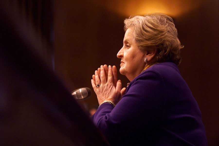 """Albright is also an accomplished writer. With five New York best sellers, she is influential in many fields. One is a memoir entitled, """"Madam Secretary."""" Another, """"Read My Pins: Stories from a Diplomat's Jewel Box"""" plays on the way she always wears a brooch."""