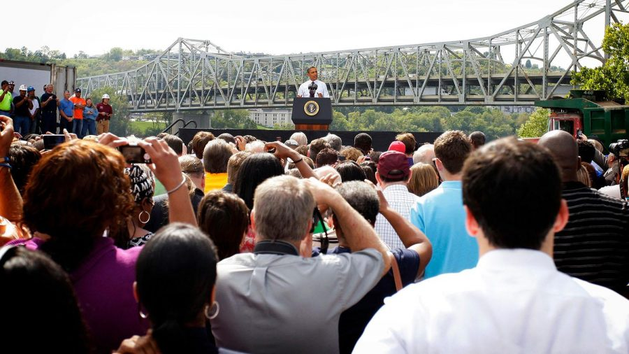 President Barack Obama delivered remarks at the Brent Spence Bridge in Ohio. Recently, there has been a lot of talk about the state of this Bridge and the possible construction of a new structure.