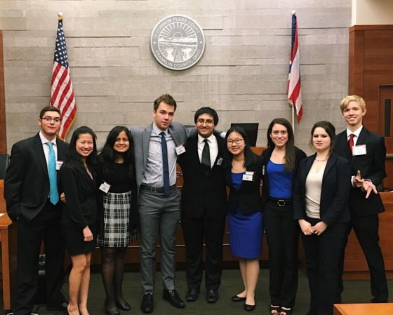 """OBJECTION.While the season started off challenging, SHS's Mock Trial team defied expectations and made it to the state competition. This year's case was a defamation case based between Pat Justice, the plaintiff, and CAT News, the defendant. Each side used the case evidence to prove their side was correct in the court of law. """"It was really amazing to go to state since Sycamore hasn't done it in so long. It was a completely different experience from anything else I've done, and, from working with everyone, I learned the effort that it takes in order to get to state,"""" said Swati Bhageria, 10."""