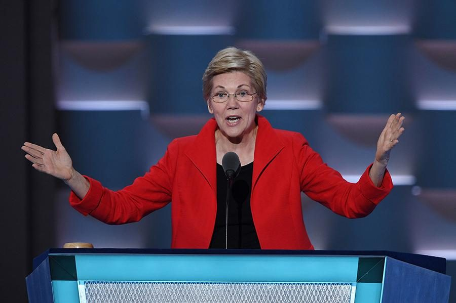 United States Senator from MA is speaking during the Democratic National Convention. She is one of the strong Democratic voices in the Senate. Warren was a professor for about 30 years focusing on consumer law and bankruptcy.