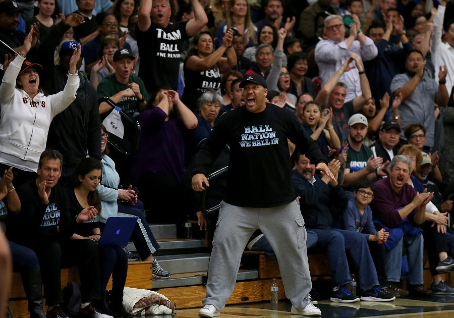 TOO MUCH. LaVar Ball is yelling on the sidelines of a high school basketball games for his sons. He recently gave himself attention by making outlandish comments about himself and his sons. Ball has captivated the sports world, and most of it has been negative attention.