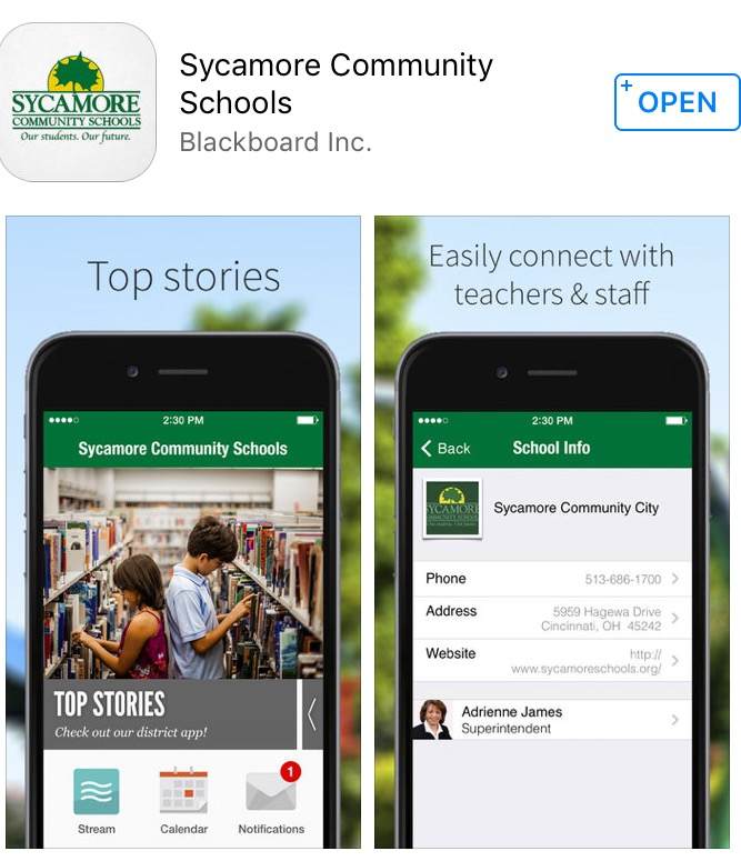DOWNLOAD+NOW.+The+app+everyone+has+been+waiting+for%2C+a+Sycamore+Schools+App%2C+is+finally+released.+It+provides+easier+access+to+everything+you+need+to+know+about+the+school+community.+%E2%80%9CWe+are+excited+about+this+way+to+connect+with+our+students%2C+families+and+community%2C%E2%80%9D+Forsthoefel+said.