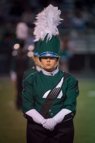 Marching band performs first competition