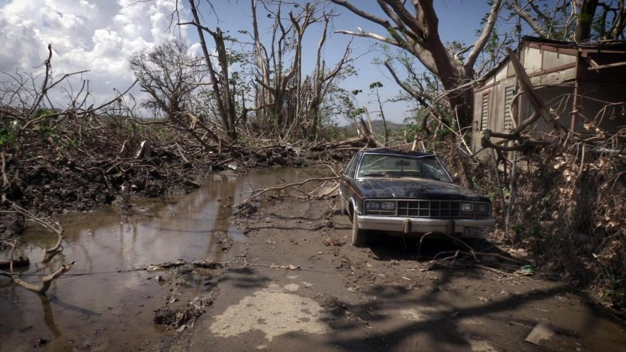 """STORM. """"Hurricane Maria whipped Puerto Rico with Irma-level winds, drenched the island with Harvey-level flooding, crippled communications, decimated buildings and damaged a dam that puts downstream residents at risk of catastrophe,"""" said Chandrika Narayan, CNN reporter."""
