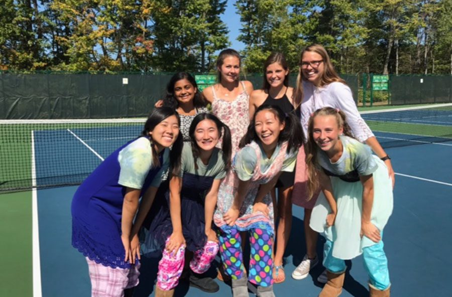 """SENIORS. The Lady Aves focus on their seniors through the annual Senior Day. This afternoon, all three teams come together to have fun and award the Class of 2018 tennis athletes. """"It was a great way to wrap up my four years on the team,"""