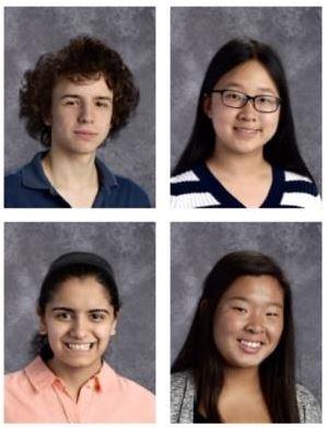 Top Row (L to R): David Godar, Jenna Bao; Bottom Row (L to R): Harsimran Makkad, Stephanie Hong.