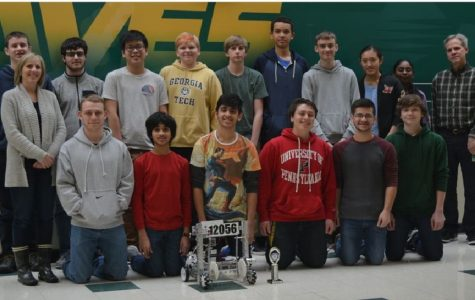 GROWTH. The Robotics Team formed last year. The 2016-2017 team members are pictured above. The team has grown in size since last year. The team is hoping to expand more next year as well.
