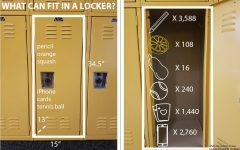 What can fit in a locker?