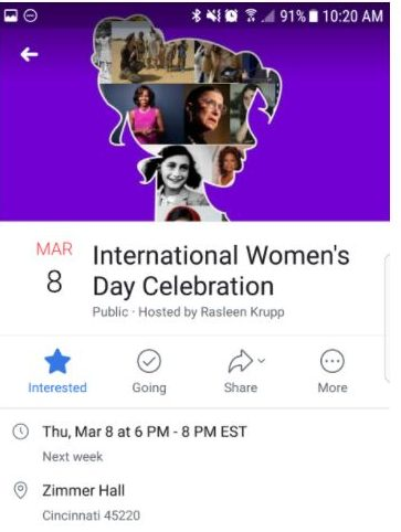 Young Feminists celebrate International Women's Day