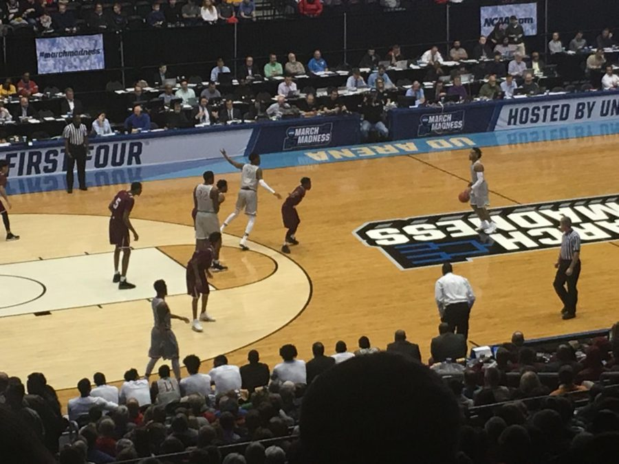 PLAY ON. Texas Southern plays North Carolina Central in one of the first games for March Madness,