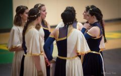 Winter guard, winter drumline holds community performance