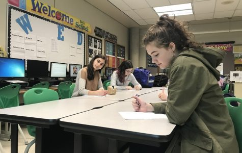 "WRITE FAST. Student journalists dictated notes from Principal Doug Mader in the journalism room, room 115. The students had prepared for the press conference by writing questions regarding SHS news for information and/or the administration's opinion on things happening (or possibly happening) in the SHS community. ""Just know that the adults in this building try as hard as possible to make this the best building for you. There are times we miss the mark; we are human, and we are dealing with humans,"" Mader said in final remarks on the conference."