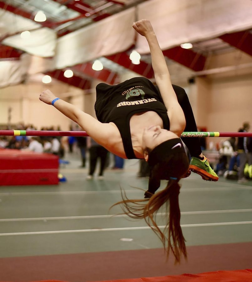 LEAP.+Senior+Meghan+DiGiovanna+takes+on+the+high+jump.+DiGiovanna+will+be+the+only+female+winter+track+athlete+from+SHS+at+state+competition.+%22I%27m+really+sad+that+the+girls+relay+team+didn%27t+get+in%2C+so+I%27m+representing+the+ladies+at+state+this+year%2C%22+DiGiovanna+said.