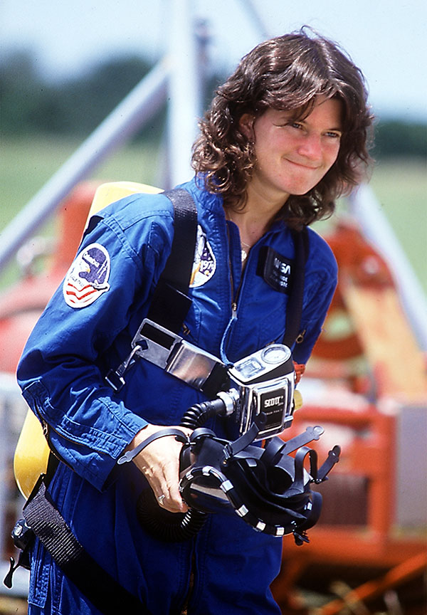 OUT OF THIS WORLD. Ride was honored after her death in various ways. Her partner Tam O'Shaughnessy wrote a children's biography and NASA has named the spot on the moon where probes Ebb and Flow landed after her. Late in 2017, the United States Postal Service announced that Ride would appear on a stamp in 2018.