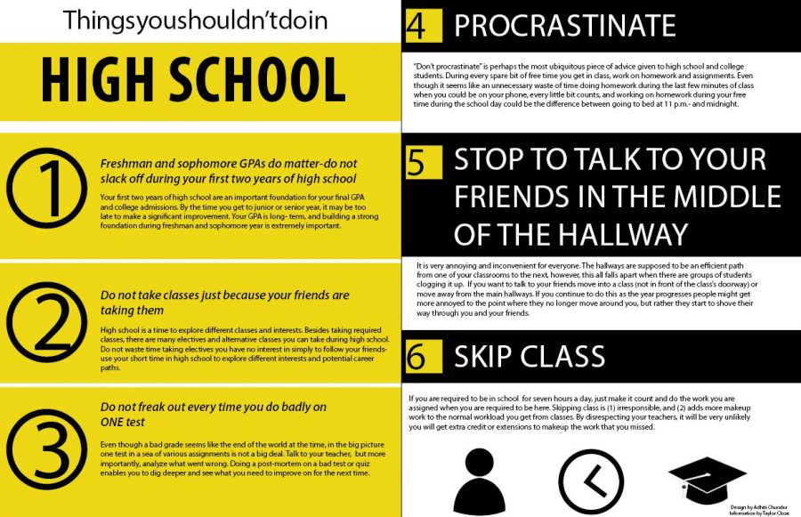 Things you shouldn't do in high school