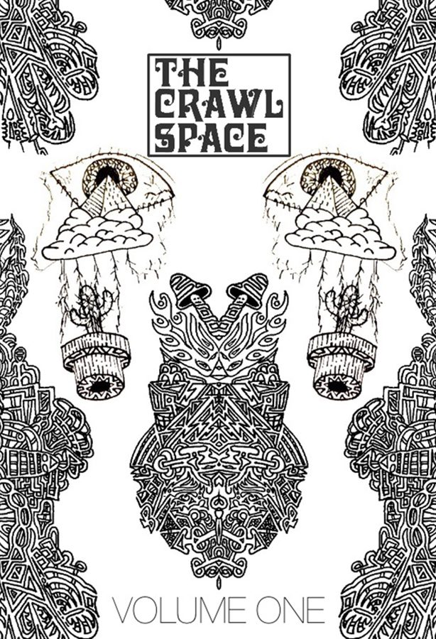 """FACE YOUR EMOTIONS. A mock-up design of the cover of Volume One of """"The Crawl Space,"""" Nehalem Chudnoff's, 11, new literary journal. Cover artwork was drawn by Tom Kisselle. Volume One is slated to be published in print in August 2018, and is currently open for submission. """"I just really hope the journal can be a safe space where people can submit their work and know that it is valued,"""" Chudnoff said."""