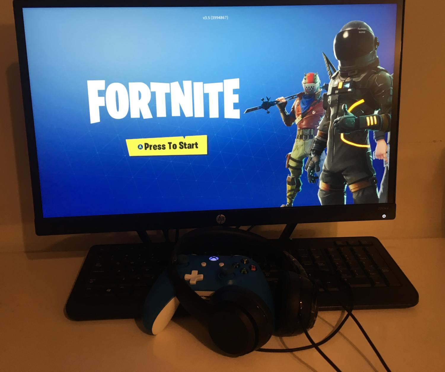"FORTNITE. Millions of young teenagers are playing the newest game, Fortnite. According to Metro Gaming, there are 3.4 million concurrent players. ""I think I am addicted to Fortnite,"" said Gordy Anaple, 9."
