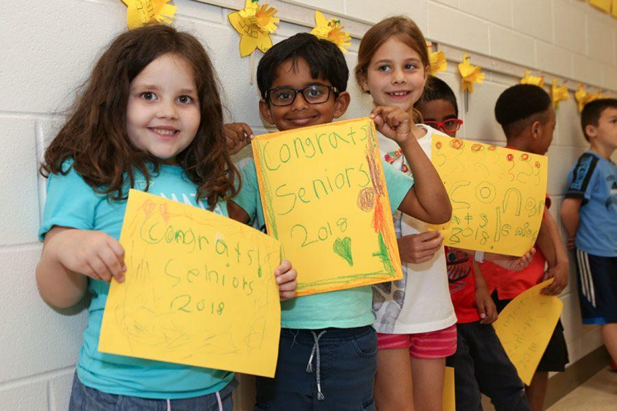 Seniors visit elementary schools