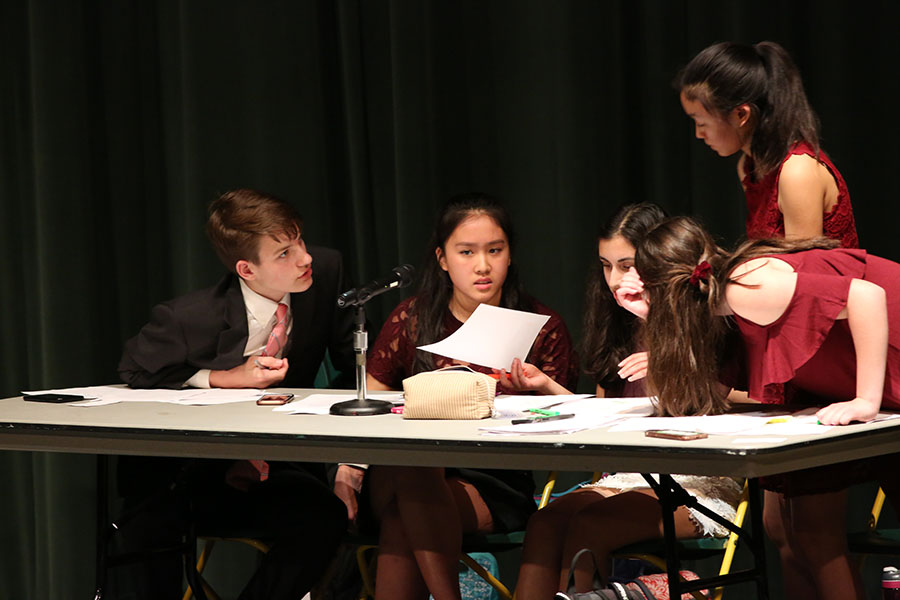 "TOUGH AS NAILS. Debates start off with four constructive speeches for their respective sides and have five minutes to prepare their rebuttals. ""Debates were really crazy while they were happening, but I kind of miss them now,"" said Anisa Khatana, 10."