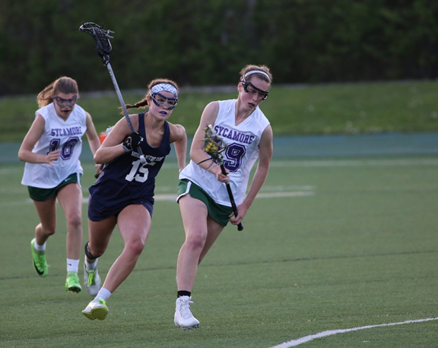 TAKE+HOME+YOUR+PRIZE.+Junior+Morgan+Bates+scored+her+100th+career+goal+against+Loveland+during+the+May+21+game+against+the+Loveland+Tigers.+Bates+will+continue+her+season+with+the+Varsity+Girls+Lacrosse+even+as+the+school+year+comes+to+a+close.