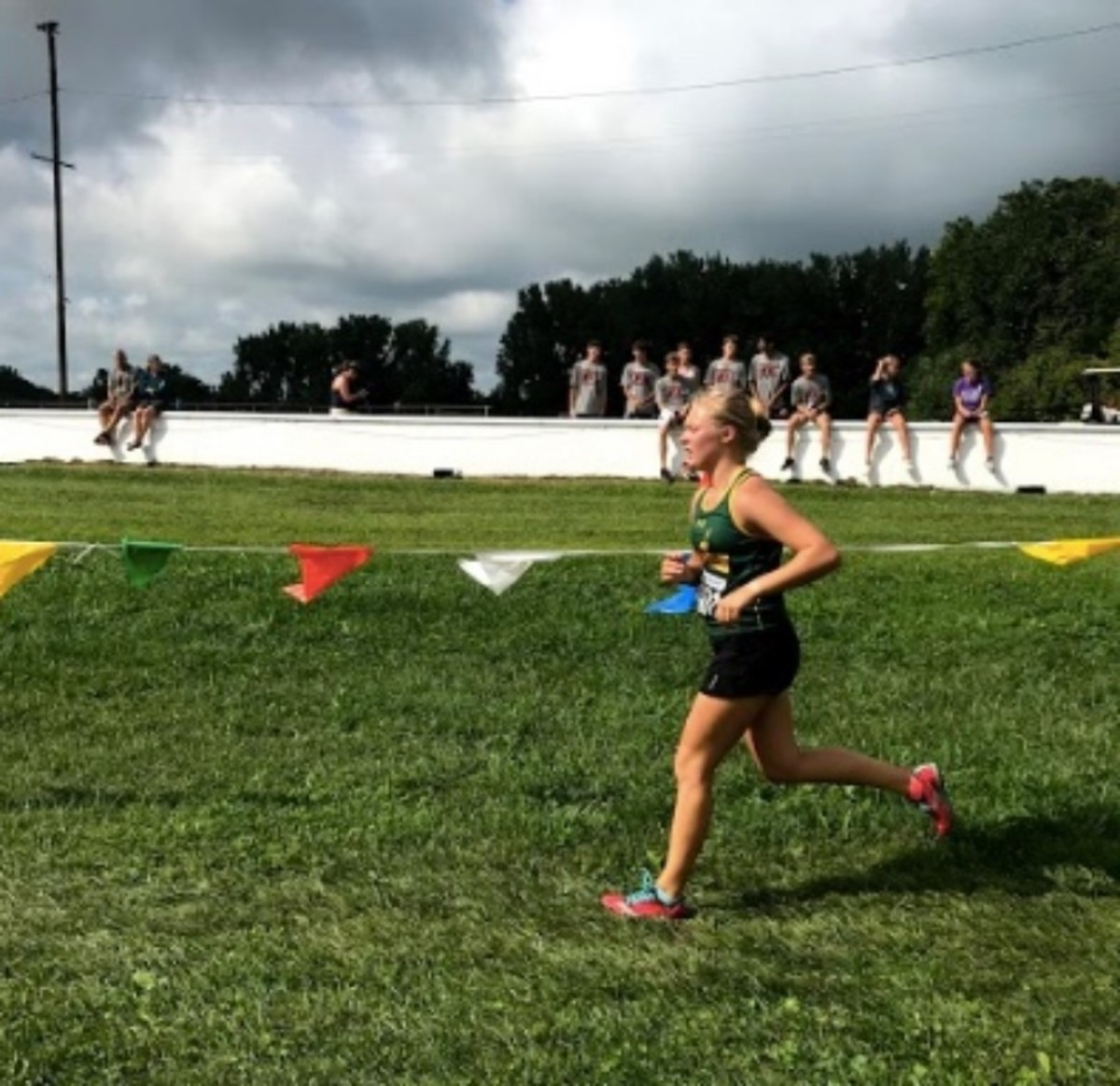 KEEP IT UP. Junior Kaylee Combs is running cross country for her third year of high school. Meets typically occur Friday afternoons or weekend mornings. The season will wrap up in early October.