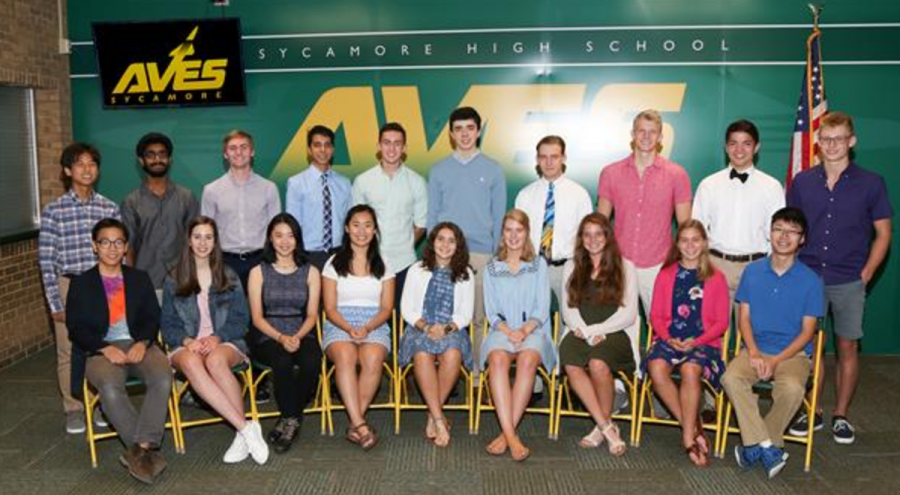 """THE WINNERS. 19 students of SHS get into the national merit semifinals. The struggle turned out successful for these students as they make it through. """"I can't wait to see what Sycamore students come up with next year,"""" said Grant Bruner, 12."""