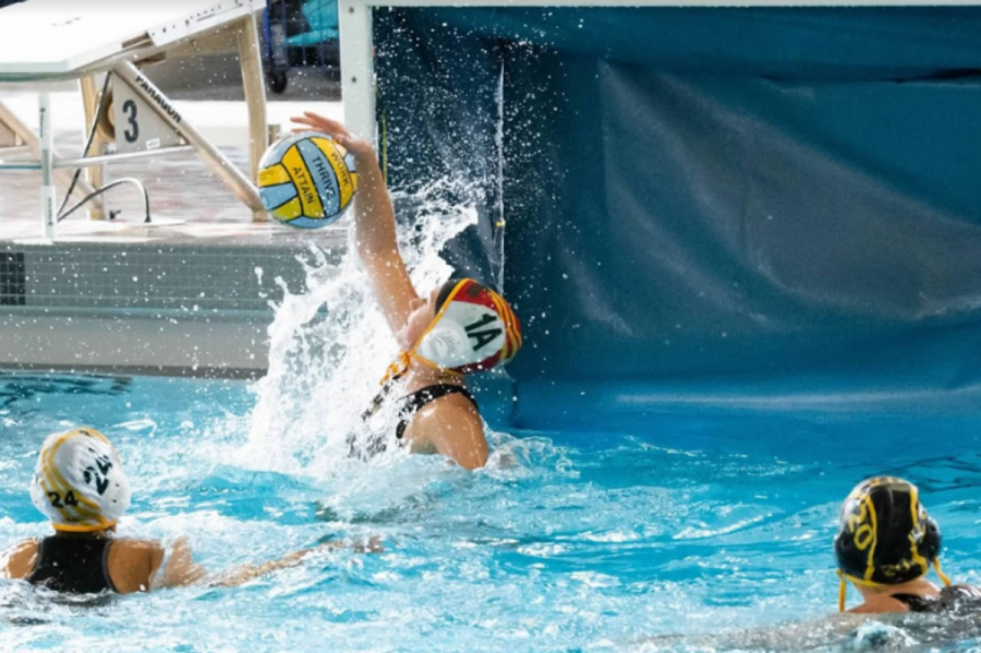Sophomore Sophie Campbell is a player for the girls water polo team. Campbell switched from playing soccer after her freshman year due to a knee injury. Campbell's sister, Ania Campbell, is a captain of the girls water polo team. The team is currently ranked fourth in state, tied with Milford.