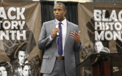 CELEBRATE. On Feb. 28, the student body gathered in the gym to attend a Black History Month Celebration assembly. The assembly included guest appearances, including the keynote speaker, Mr. Keenan Singleton. Singleton is a sports reporter here in Cincinnati for WCPO Channel 9.