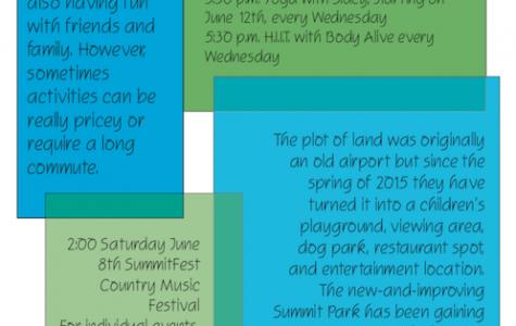 Summit schedules events
