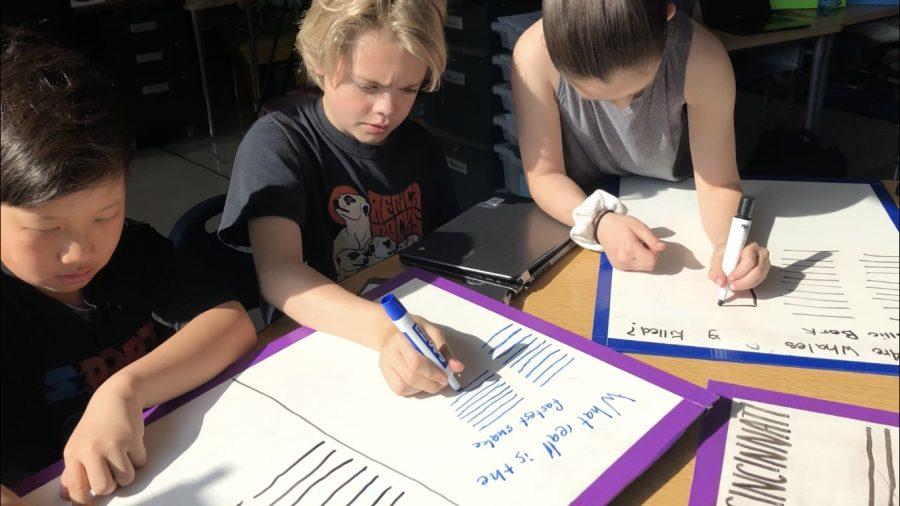 Fourth graders write