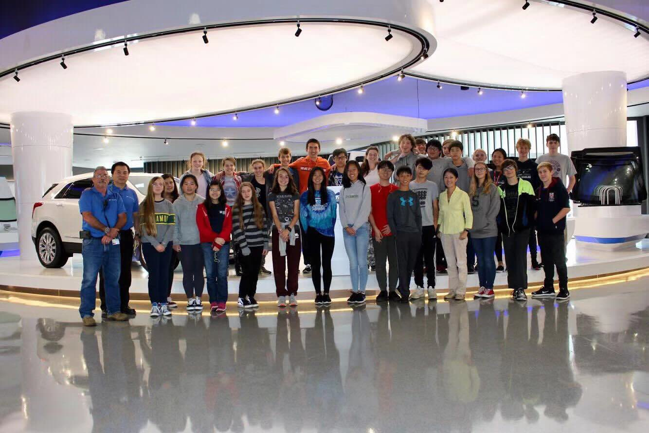 """LEARN. First-hand learning experiences at its finest, 30 SHS Chinese class students traveled to Fuyao's manufacturing plant in Dayton, Ohio, after watching the documentary """"American Factory."""" According to Chinese 5 student, Theo Eborall, 12, """"...I found it really interesting to watch and learn how the two cultures worked together."""""""