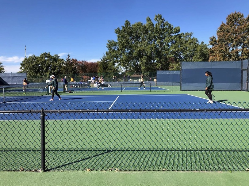 STATES. Recently, senior tennis player, Harsitha Kalaiarasan competed at the state level. Her senior season was filled with much reflection and less pressure than before, thus allowing her to play her best.