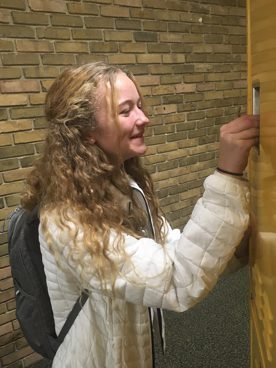 "BACKPACKS. One of the best things about the high school is a newly acquired freedom that was not available at the junior high—being able to carry a backpack. Freshman Cami Matthews said, ""It's such a relief to not have to go to my locker, like, every two bells. It's really nice."""