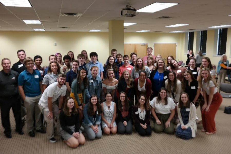 REGIONAL+YOUTH+LEADERSHIP.+Pictured+are+the+45+program+participants+including+Alaina+Delsignore%2C+11+and+Aaditi+Lele%2C+11%2C+at+their+Diversity+Session+for+the+Regional+Youth+Leadership+program.%C2%A0