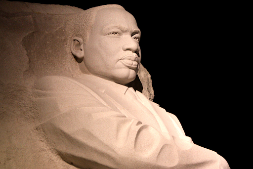 BLACK HISTORY MONTH. Martin Luther King Jr. memorial. King was a prominent figure in black history.