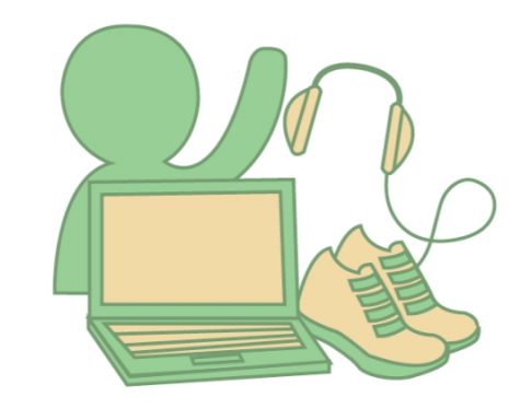 """ADMIN ADVICE. When learning remotely, administrators encourage engaging fully in your classes, asking for help, managing screen time, exercising, and sticking to a routine. """"I know together we can get through this together, and when we return to school, we will continue to do what we can to stay in school,"""" said Mr. Doug Mader."""