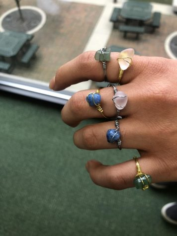 "Hannah Peri, 10, is hand making gemstone rings to benefit Dragonfly. ""The rings are trendy and it's so cool to see people buy them because then you see everyone walking around school with the rings on, and it shows that the school really does support FFTC"", Peri said."