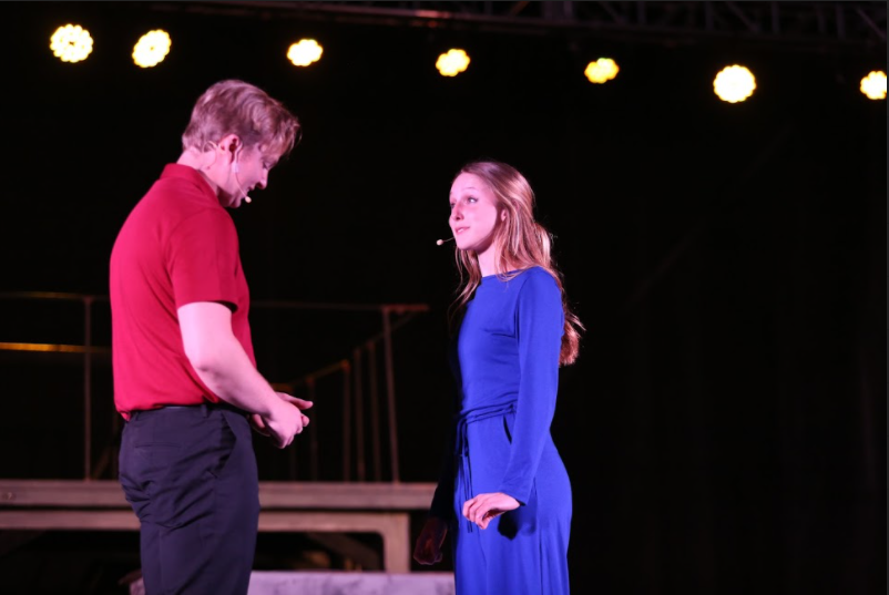 """LEADING LADY. Her second leading role in her SHS theatre career, junior Payton Hines played the quirky and romantic Juliet, her friendship with Romeo actor Jake Jervis coming in handy as they told a tale of love, woe, and unexpected happiness. Hines has expressed her sadness about how the arts have been severely disadvantaged during the pandemic, but is thrilled to be back on stage. """"We are all just so extremely excited to be performing again with the energy of the audience, the lights, and the physical community for being together. While this year looks different and we have faced a new set of challenges, we are just so grateful to be back doing what we love,"""" Hines said."""