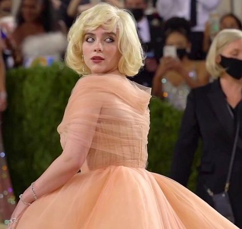 Singer Billie Eilish was one of the many notable celebrities at the Met Gala, stunning crowds in her voluminous gown and iconic look.