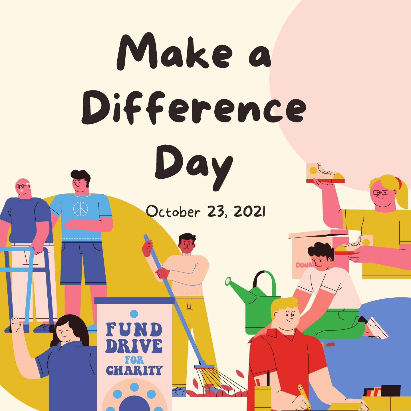 Make a Difference Day is on Oct. 23. Making a difference, whether it is a change for yourself or a change for a community, is essential for growth as a person. What kind of a difference are you making? Image via Canva - Serene Tarabishi